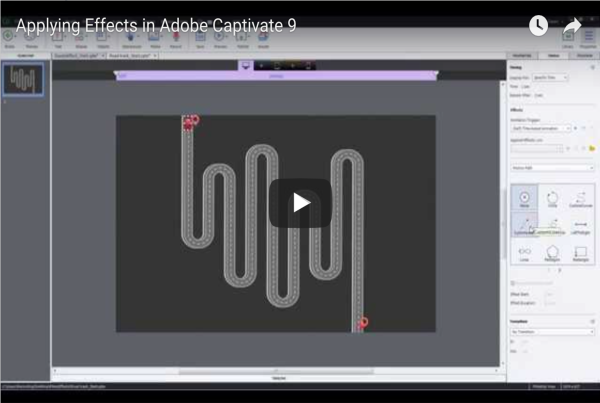 Applying Effects in Adobe Captivate 9