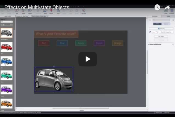 Effects on Multi-state Objects in Adobe Captivate 9