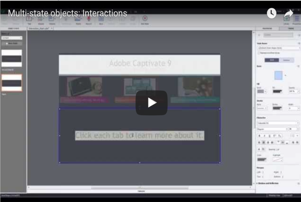 Building Interactions with Multi-state objects in Adobe Captivate 9
