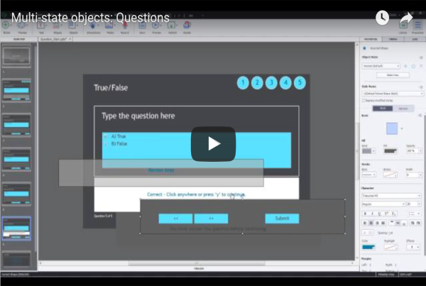 Using Multi-state objects with Questions in Adobe Captivate 9