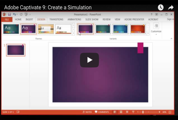 Creating a Simulation in Adobe Captivate 9