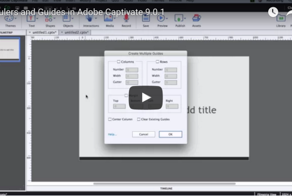 Rulers guides Adobe Captivate